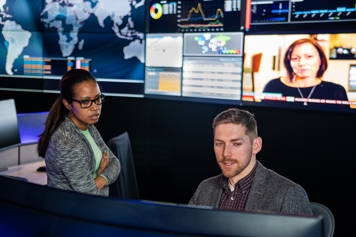 Information security advisors Melissa Koch and Patrick Tobin